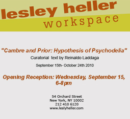 Cambre and Prior  en LESLEY HELLER WORKSPACE